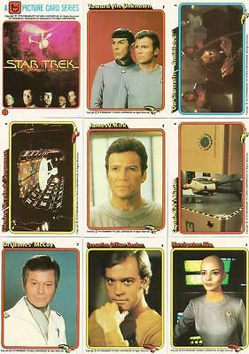 Star Trek The Motion Picture Trading Card Set of 33 Cards from Rainbo Bread 1979