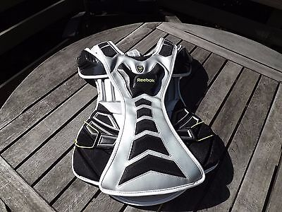 New Reebok Lacrosse 10K GOALIE Chest Protective Pads Size Large Free Ship
