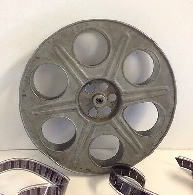 "Goldberg 35mm 14.5"" 2000ft. Antique Metal Film Reel"