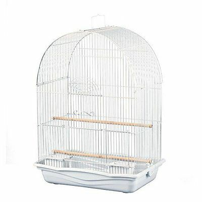 Prevue Pet White Arched Top Lovebirds,Cockatiels,Canary,Finch,Parakeet Bird Cage
