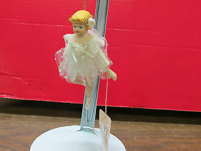 Show Stoppers Inc.~ Ballerina ~Collectible Porcelain Hanging White Dress Balleri
