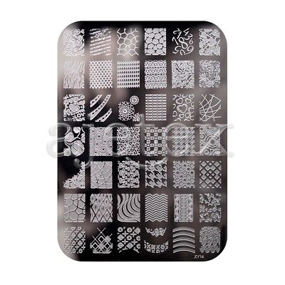 20 Style Nail Stamping Large Plate Steel template  XY Serie Tip Decor Rectangle