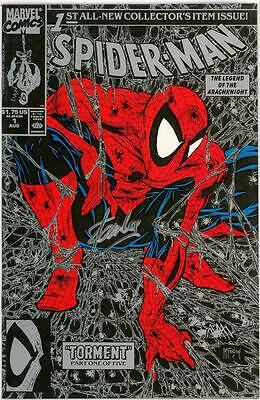 Spider-Man #1 Silver Variant 1990 Signed Stan Lee Jay Company Coa Marvel Comics