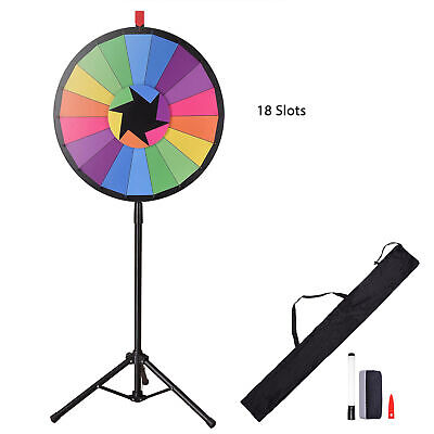 "WinSpin® 24"" Color Prize Wheel 18 Slot Floor Stand Tripod Spin Game Tradeshow"