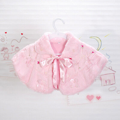 New Faux Fur Bolero Poncho Shrug available in Ivory,Pink from 1 Year to 8 Years