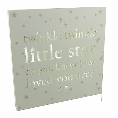 Bambino Light Up Baby Wall Plaque Twinkle Twinkle Little Star CG1183