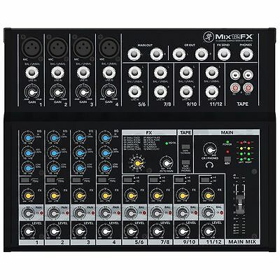 Mackie Mix Series Mix12FX 12-Channel Compact Mixer with Effects