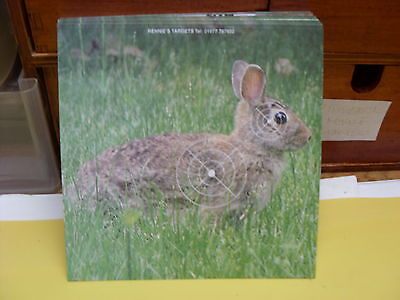40 x 14cm X 14cm Top Quality Air Rifle Pistol Shooting  RABBITS Card Targets