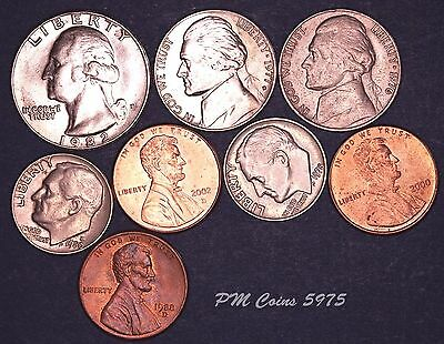 USA US coin set, Five cents, dimes, one cent coins [5975]