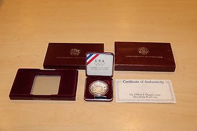 United States Mint 1992 U.S. Olympic Coin Silver Dollar Proof Coin