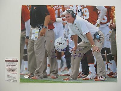 MACK BROWN signed/auto'd TEXAS LONGHORNS 16x20 Photo w/05 COACH OF THE YEAR--JSA