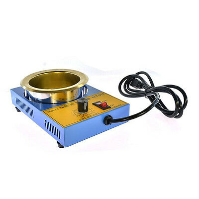 220V Solder Pot Soldering Desoldering Bath Inner Diameter 100mm 450 Degree Max