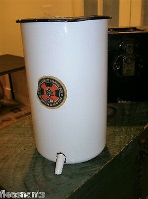 Antique Enamel Irrigator Hospital Medical IV Drip Bag Holder Gothic Halloween