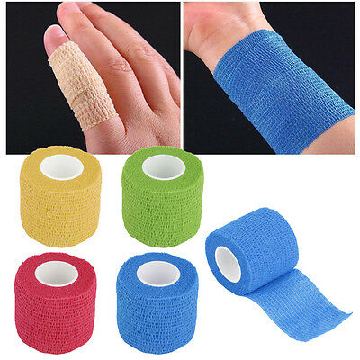 Self-Adhering Bandage Wraps Elastic Adhesive First Aid Tape Stretch 5cm RX