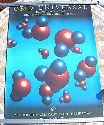 ORCHESTRAL MANOEUVRES IN THE DARK Universal promo poster 33 x 23  original