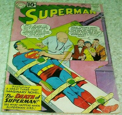 Superman 149, (VG/FN 5.0) 1961 The Death of Superman! 50% off Guide!