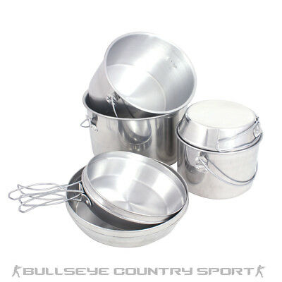 Mil-Com Billy Can Nesting Set 6 Piece Cooking Set Camping Outdoor Stove