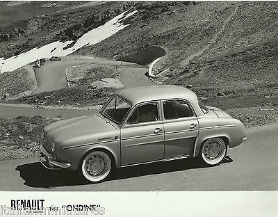 Renault Ondine Side View 1961 Original  Press Photograph  Excellent Condition