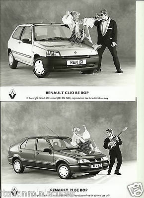Renault Clio and 19 Be Bop Rock and Roll Photograph x 2 & Press Release