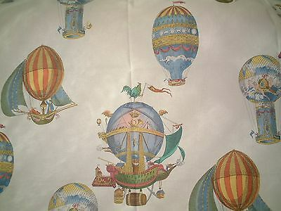 Mulberry Fabric Flights Of Fantasy - Hot Air Balloons