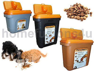 PET FOOD STORAGE Container Plastic Bin Dog Cat Bird Dry Feed Box 8Kg