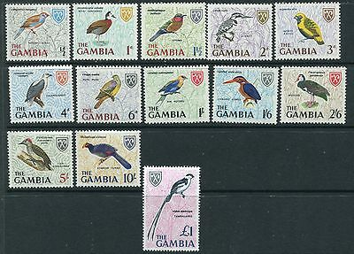 GAMBIA 1966 BIRDS Definitives MNH Set to £1 13 Stamps
