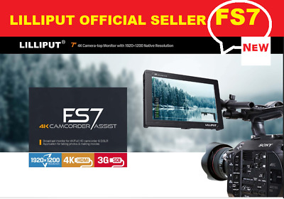 "LILLIPUT 7"" FS7 1920x1200 Metal 3G-SDI 4K HDMI DSLR Camera Monitor + V mount pla"