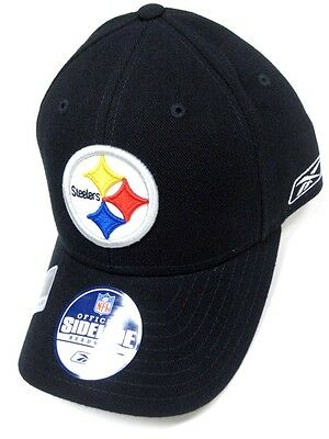 7214906b41b Pittsburgh Steelers NFL Reebok Sideline Coaches Hat Cap Black Flex Fitted 7  1 8