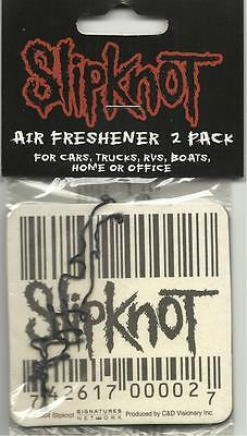 SLIPKNOT barcode/logo 2005 AIR FRESHENER 2 PACK official merchandise SEALED