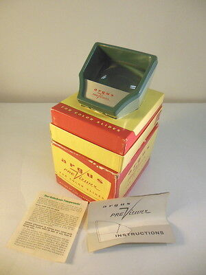 1W Vintage ARGUS Preview Color Slides Viewer With Original BOX & Instructions!