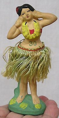 A vintage Hula Girl Nodder Figure Made in Japan Composition 1940s-50s