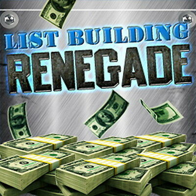How To Generate Massive Email Lists Of Buyers  - List Building Renegade (CD-ROM)
