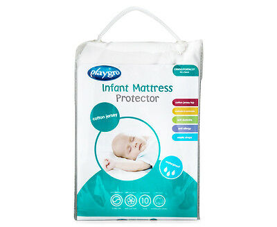 Playgro Cotton Jersey Cradle/Portacot Mattress Protector - White