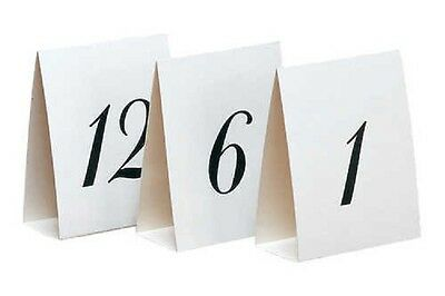Paper Art Number Table Placecards 1-12 Wedding Party Supplies Decoration