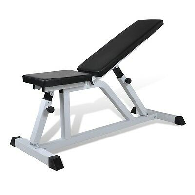 #bNew Weight Bench Fitness Workout Bench Backrest&Seat Adjustable Multi-function