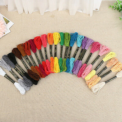 50 Skeins Anchor Cross Stitch Cotton Embroidery Thread Floss Sewing Skeins Craft