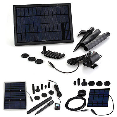 Solar Panel Powered Water Pump For Garden Plants Fountain Pond Pools Kit New