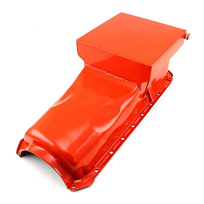 Chevy BBC 454 Gen 4 6Qt Drag Rear Sump 2Pc Rms Orange Oil Pan