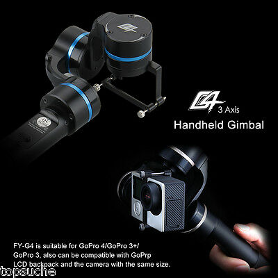 360° 3-Axis Stabilisateur Handheld Gimbal Steadycam pour Caméra GoPro 4/3+/3