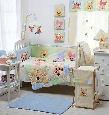 Brand New Disney 4 Piece Hiding Pooh Baby Crib Bedding Cot Set Rrp $250.00
