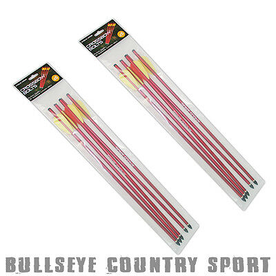 """Anglo Arms 10 x Alloy Crossbow Bolts Arrows 16"""" Red Alloy Removable Tips"""