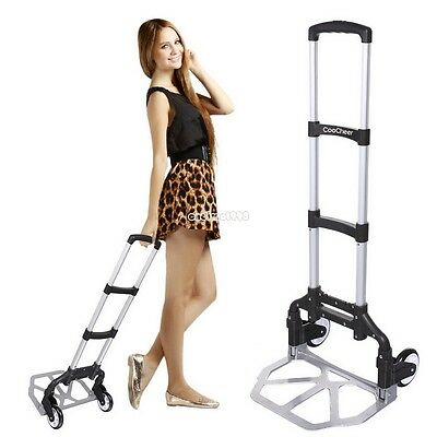 150 lbs Aluminium Cart Folding Dolly Push Truck Hand Collapsible Trolley Luggage