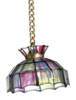 Dolls House Miniature 1:12 Scale Accessory Tiffany Lamp Shade on Chain