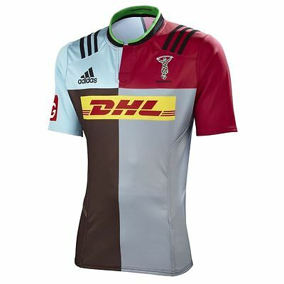 adidas Harlequins Home Player Issue Match Fit Rugby Union Jersey rrp£90 - Rare