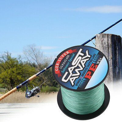 High Quality 300M PE 4 Strand Strong Strength Braid Fishing Line Army Green RX