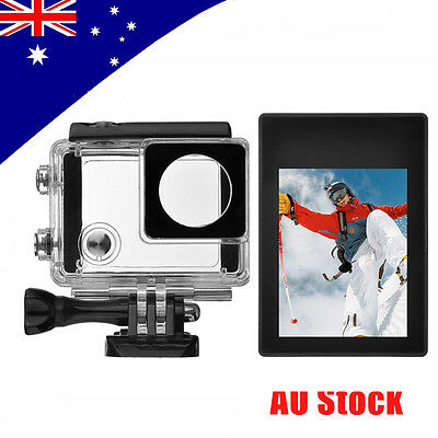 LCD BacPac Display Viewer+Rear Screen Cover+Waterproof Case for GoPro Hero 4 3+