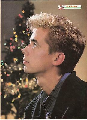 NICK HEYWARD @ Christmas magazine PHOTO/Poster/clipping 11x8 inches