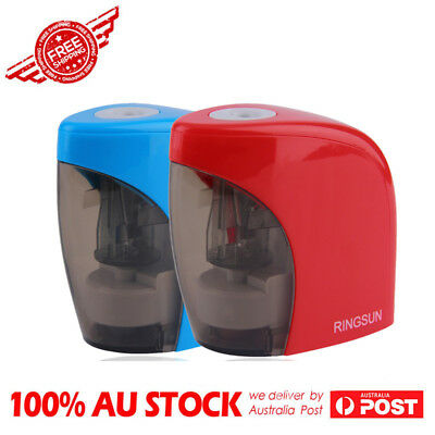 Automatic Blue Red Electric Battery Pencil Sharpener For Office School use RX