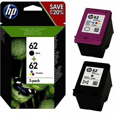 2x Original HP 62 TINTE PATRONEN OfficeJet 200c 202 250 5740 5742 5744 5746 8000