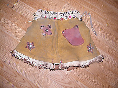Vintage Child's Cowgirl Leather Skirt